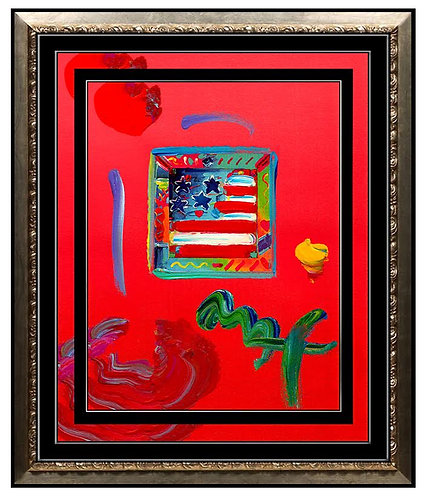 """Flag with Flag"" by Peter Max"