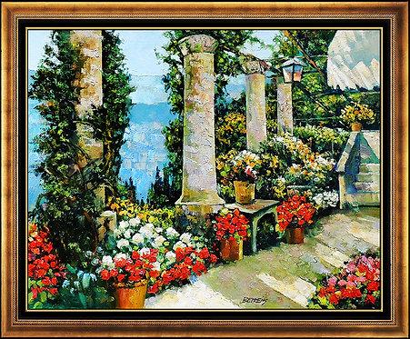 """Original Garden at Hotel Capri"" by Howard Behrens"