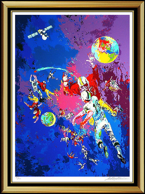"""Satellite Football"" by Leroy Neiman"