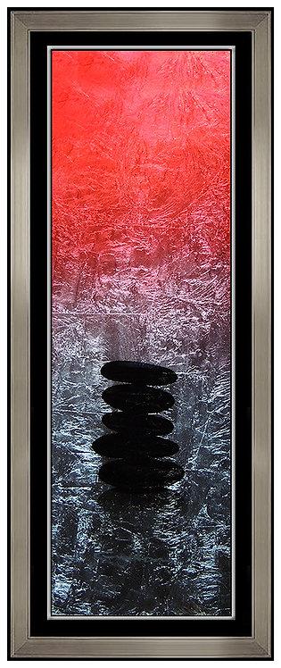 """Original Zen Rocks - Red"" by Patrick Guyton"