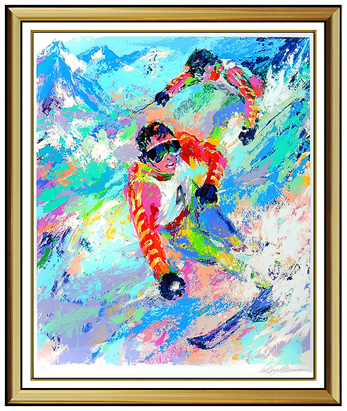 """Skiing Twins"" by Leroy Neiman"