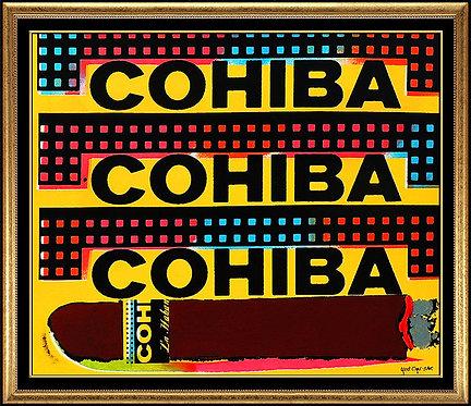 """""""Tres Cohibas"""" by Steve Kaufman"""