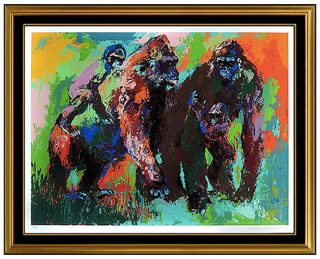 """Gorilla Family"" by Leroy Neiman"