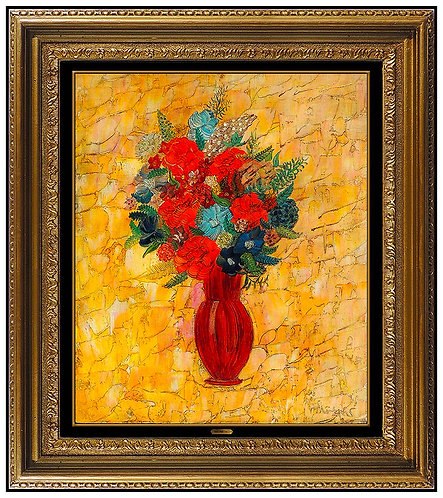 """Vase of Flowers"" by Henri Maik"