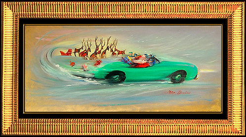 """Original Santa's On The Loose"" by Peter Ellenshaw"