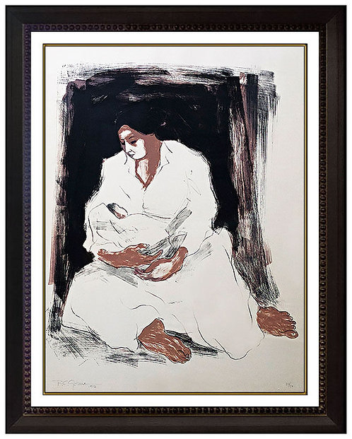"""""""Mother and Child"""" by R.C. Gorman"""