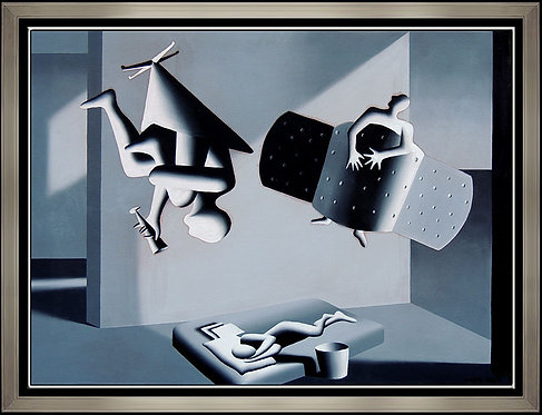 """Positive"" by Mark Kostabi"