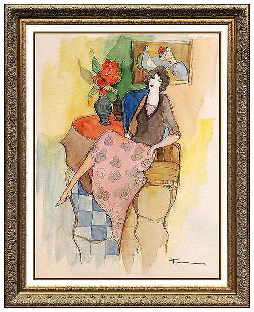 """Barbara's Kitchen Original"" by Itzchak Tarkay"