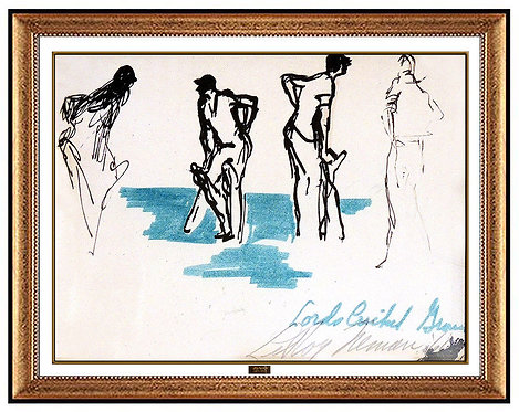 """""""Original Lord's Cricket Grass"""" by LeRoy Neiman"""