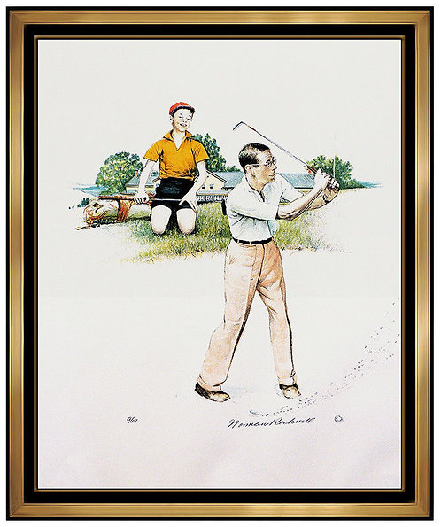 """""""Golf"""" by Norman Rockwell"""