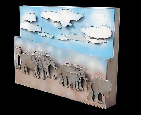 """Elephants Relief Sculpture"" by Larry Rivers"