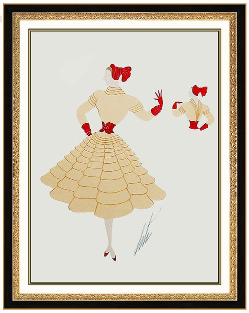"""Red Bow, Front and Back"" by Erte"