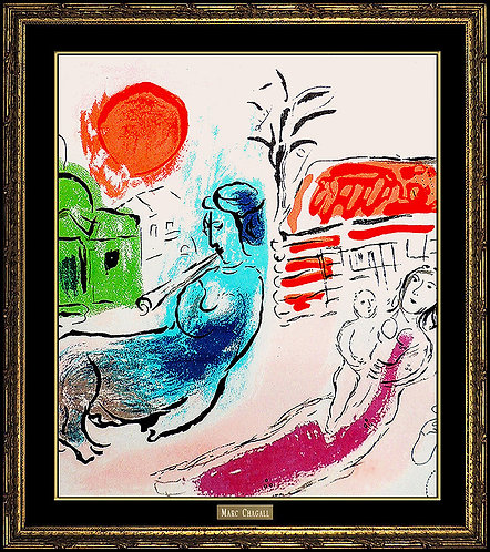 """Maternity with Centaur (m.195)"" by Marc Chagall"