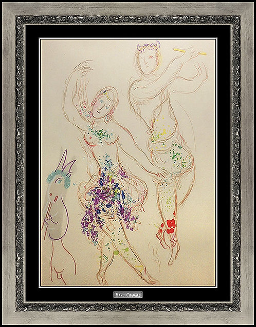 """The Ballet (m.581)"" by Marc Chagall"