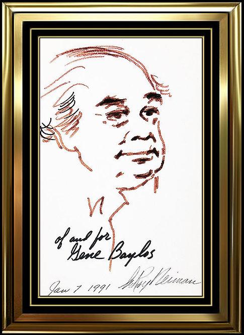 """The Celebrities' Comedian, Gene Baylos"" by Leroy Neiman"