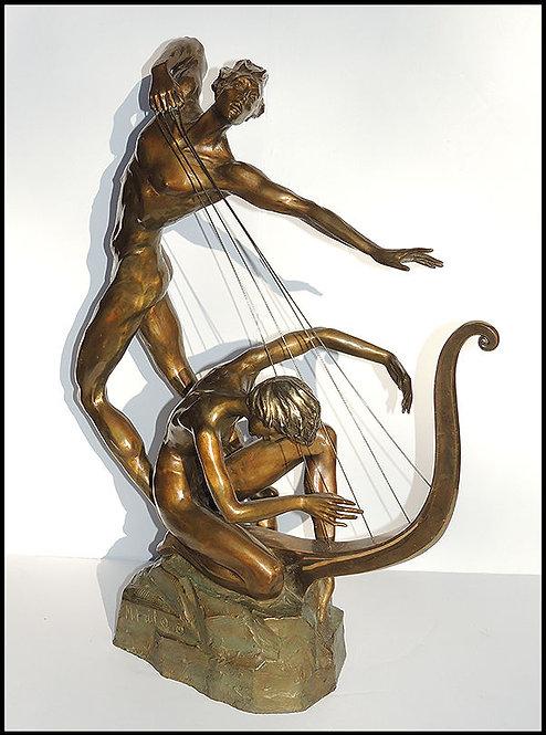 """Harp Player"" by Misha Frid"