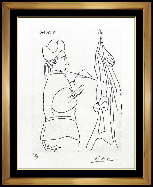 """Jeune Peintre a son Chevelet"" by Pablo Picasso"