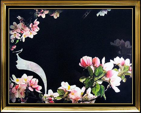 """Cherry Blossoms on Black"" by Yankel Ginzburg"