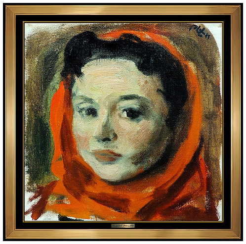 """Original Scarlett Headscarf"" by Robert Phillip"