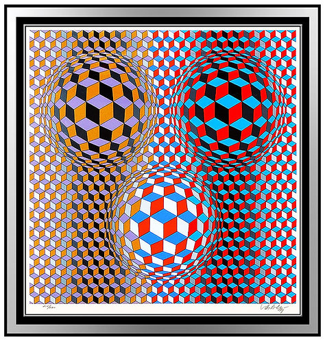 """Nebulous"" by Victor Vasarely"