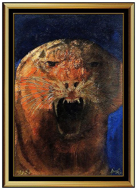 """Original Tiger"" by Leonard Baskin"