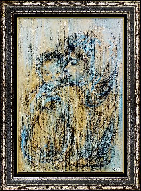 """Original Mother and Child"" by Edna Hibel"