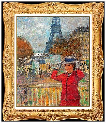 """""""Original Jenune Femme a La Tour Eiffel"""" by Francois Gall"""