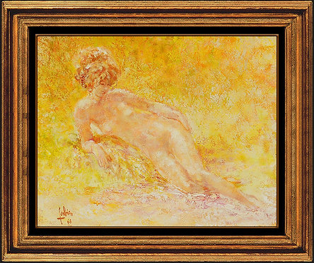 """Original Lounging Nude"" by Louis Fabien"
