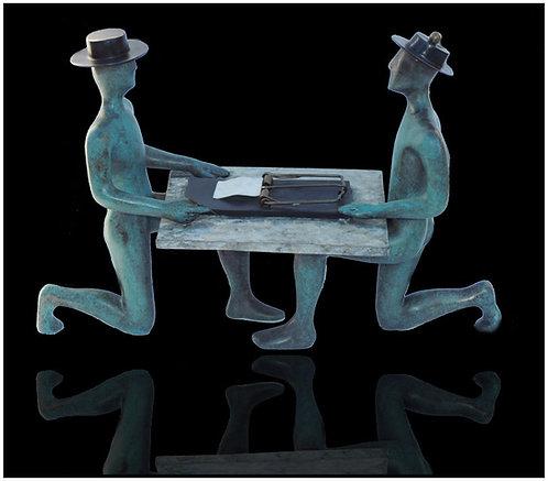 """Art of the Deal - Sculpture"" by Mark Kostabi"
