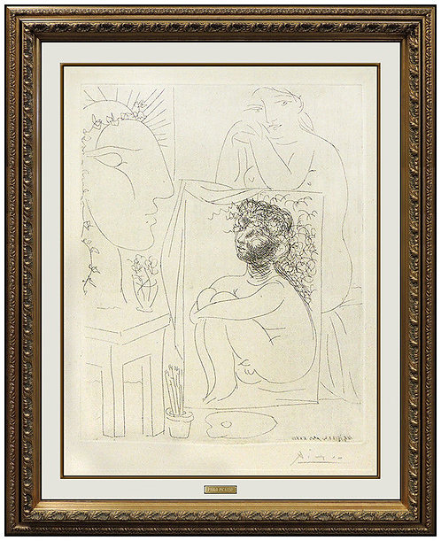 """""""Modele Accoude sur un Tableau"""" by Pablo Picasso"""