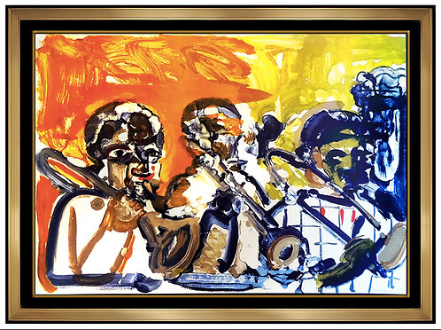 """Brass Section (from the Jazz Suite)"" by Romare Bearden"