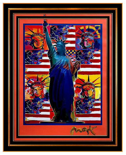 """God Bless America- 5 Liberties"" by Peter Max"