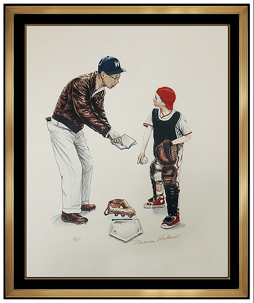 """Baseball"" by Norman Rockwell"