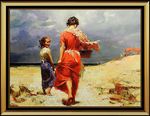 """Summer Retreat - Hand Embellished"" by Pino Daeni"