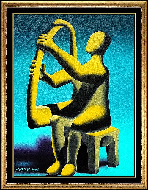 """Original Primal Music"" by Mark Kostabi"