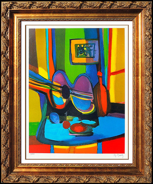 """Guitare et Bouteille"" by Marcel Mouly"