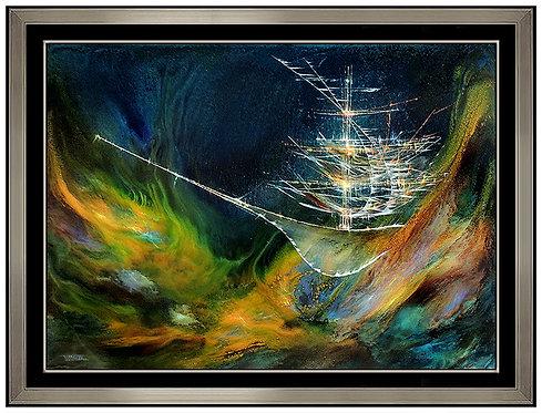 """Enchanted Seascape Original"" by Leonardo Nierman"