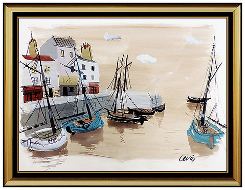 """Original Harbor Landing"" by Charles Levier"