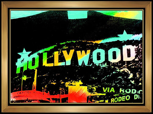 """The Famous Hollywood Sign"" by Steve Kaufman"