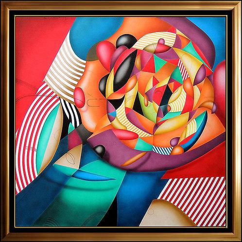 """Original Blossoming Rose"" by Yankel Ginzburg"