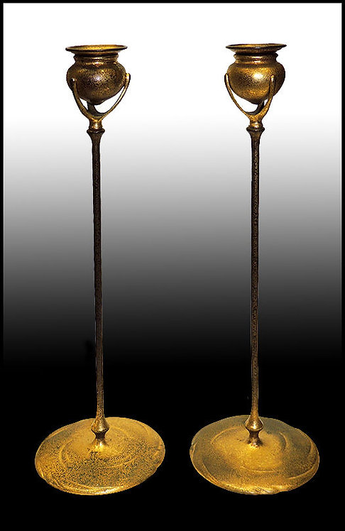 """Pair of Candlesticks"" by Louis Comfort Tiffany"
