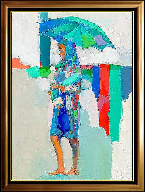 """Original Young Woman with Parasol"" by Nicola Simbari"