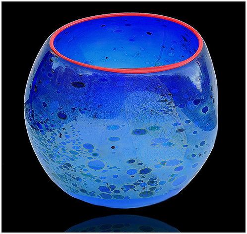 """Cobalt Blue Basket"" by Dale Chihuly"