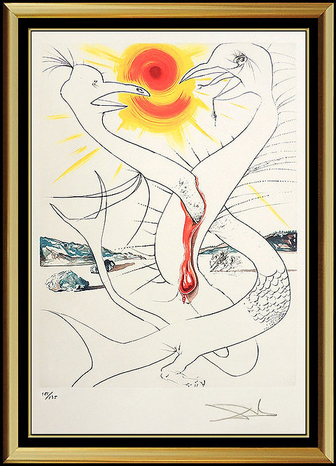 """The Caduseus of Mars Nourished by the Ball of Jupiter"" by Salvador Dali"