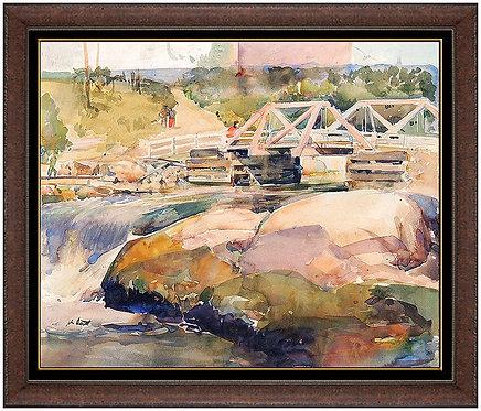 """""""Bridge over Rushing Water"""" by John Walter Scott"""