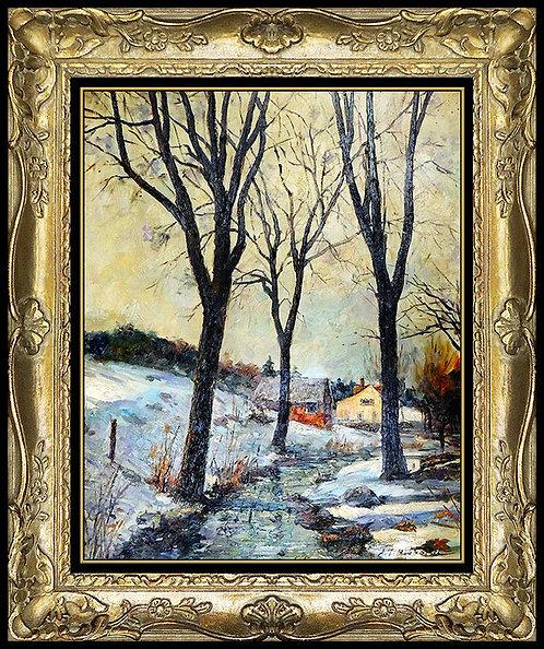 """""""Winter Day, VT"""" by Aldro A.T. Hibbard"""