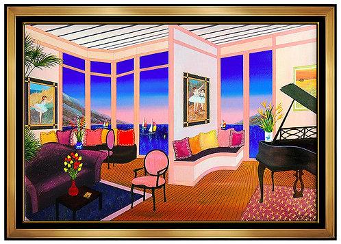 """Interior with Degas Original"" by Fanch Ledan"
