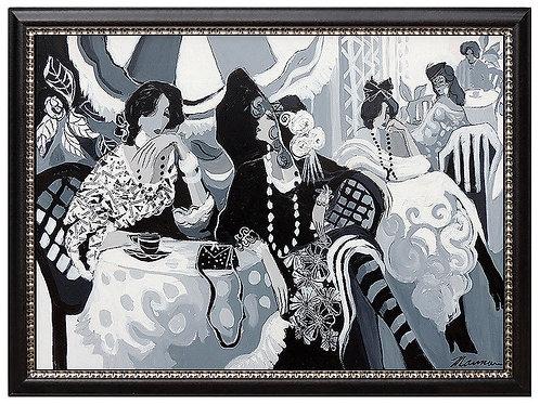 """Original Cafe High Society"" by Isaac Maimon"