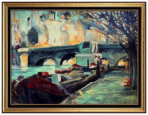 """Along The Seine, Paris"" by Francois Gall"