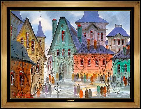 """Original Old Little Street of Praque"" by Anatole Krasnyansky"